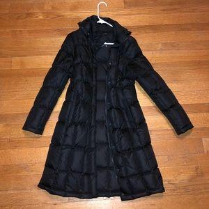 Long North Face winter jacket